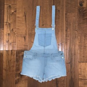 Vici Jeans - Vici light wash Jean Short Overalls by Klique B